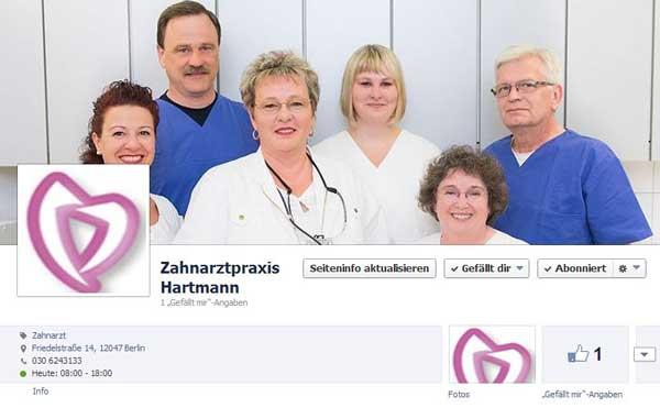 Facebook-Zahnarztpraxis-Hartmann